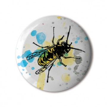 Gift Box: 4 button badges (Insects)