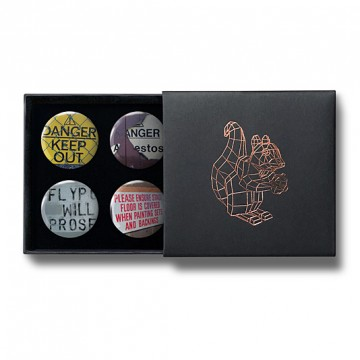 Gift Box: 4 button badges (Signs)