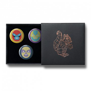 Gift Box: 3 button badges (La Lucha Libre)