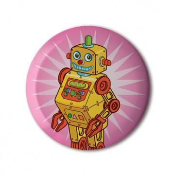 Gift Box: 4 button badges (Robots)