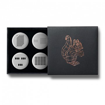 Gift Box: 4 button badges (Intercoms)