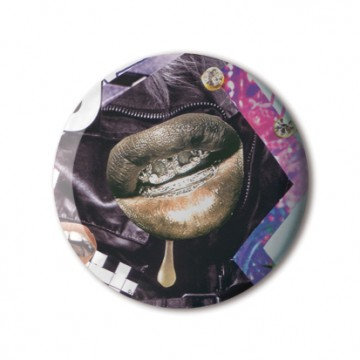 Gift Box: 4 button badges (Juicy Collages)