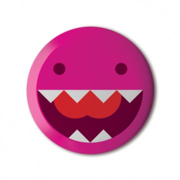 Gift Box: 4 button badges (Monster Skull Mix)