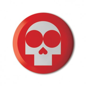 Gift Box: 4 button badges (Monster Skull Mix)