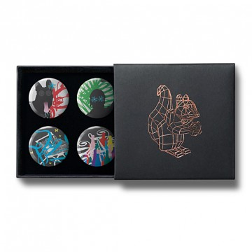 Gift Box: 4 button badges (Party)