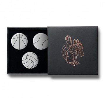 Gift Box: 3 button badges (Ball Sports)