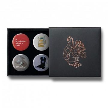 Gift Box: 4 button badges (Loveletter)