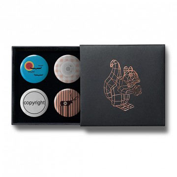 Gift Box: 4 button badges (Kerstin Mix)