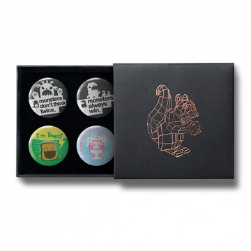 Gift Box: 4 button badges (Don't Think Twice)