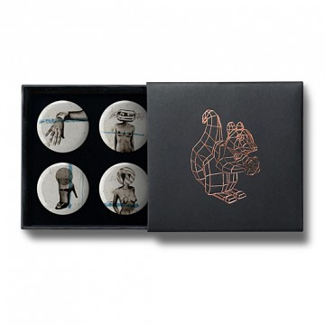 Gift Box: 4 button badges (High Heels)