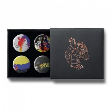 Gift Box: 4 button badges (Abstract)