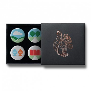 Gift Box: 4 button badges (Minimal Environments)