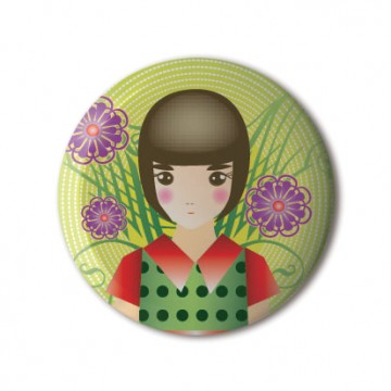 Gift Box: 3 button badges (Ornamental)
