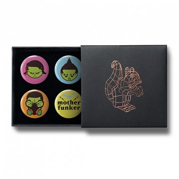 Gift Box: 4 button badges (Sampal Kids)