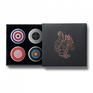 Gift Box: 4 button badges (Targets)