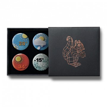 Gift Box: 4 button badges (Weather)