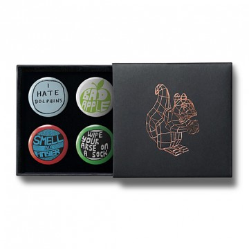 Gift Box: 4 button badges (Anti)