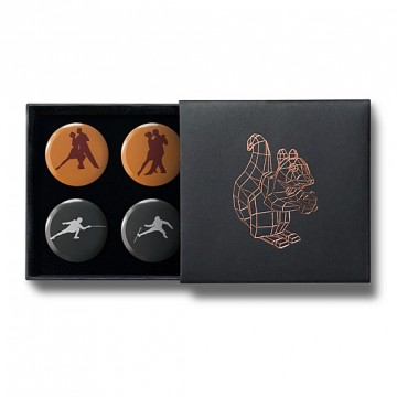 Gift Box: 4 button badges (Tango Fencing)