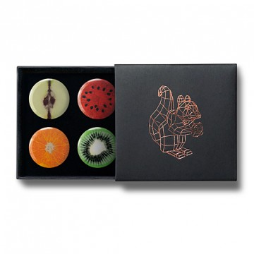 Gift Box: 4 button badges (Fruity)