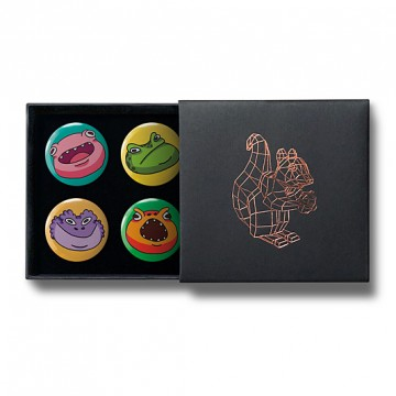 Gift Box: 4 button badges (Amphibia)