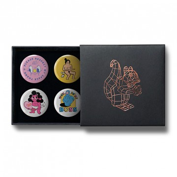 Gift Box: 4 button badges (Bobbi Rae Mix)