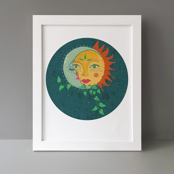 Moon Sun print
