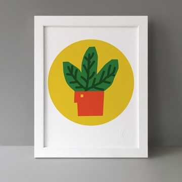 Leafy Plant print