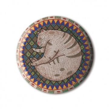 Cat On Persian Carpet print