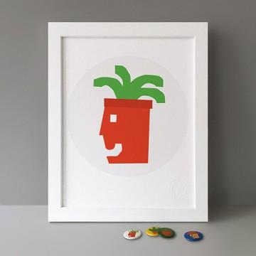 Happy Plant print