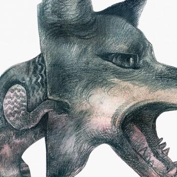 Wolf Mask print
