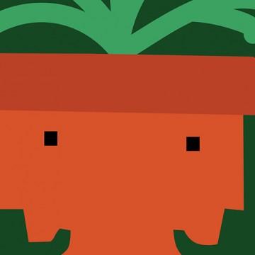 Twin Plant print