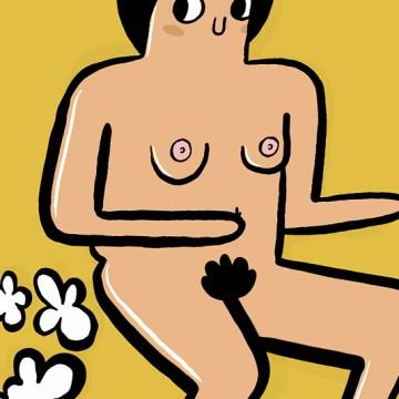 Farting Nude print