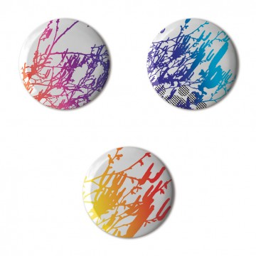 Gift Box: 3 button badges (Gradients)