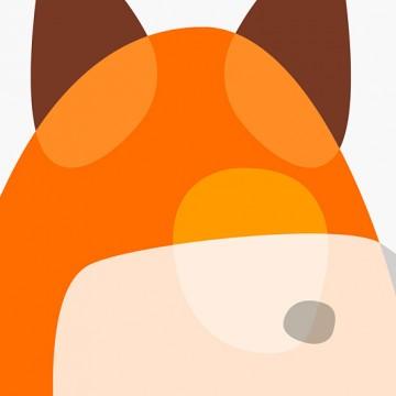 Fox Shapes print