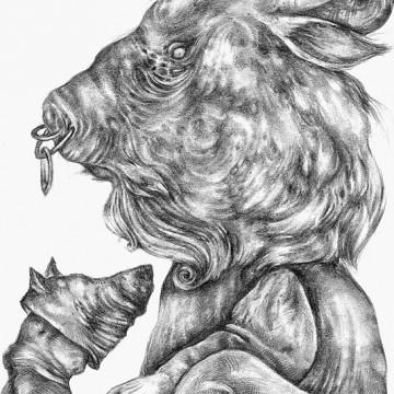 Minotaur print