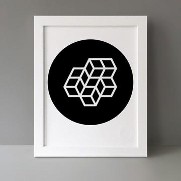 Modulo: 2x2+2x1 Circle print