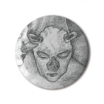 Gift Box: 4 button badges (Surreal Masks)