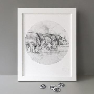 Rhino Creatures print