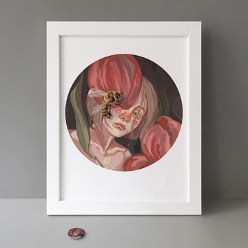 Bee Girl print
