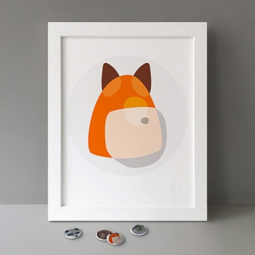 Fox Shapes print
