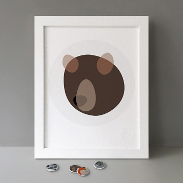 Bear Shapes print