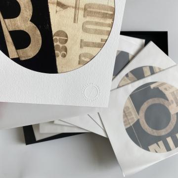 Collage Stripes print