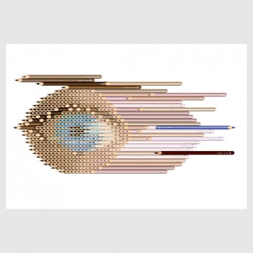 Eye Sculpture Contains 470 Pencils