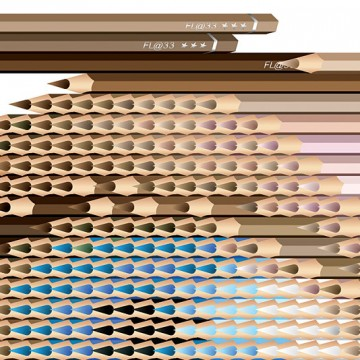 Eye Sculpture Contains 470 Pencils