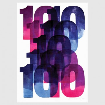 10x10 Series (original letterpress poster)