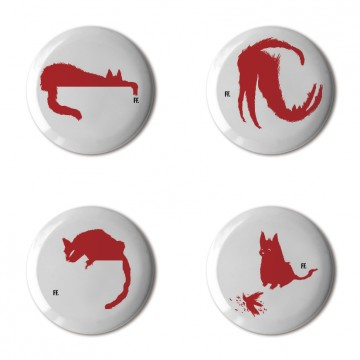 Gift Box: 4 button badges (CatTitudes)