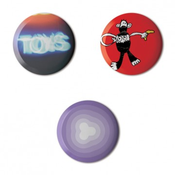 Gift Box: 3 button badges (Toys)