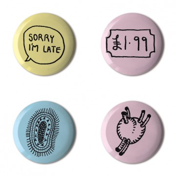 Gift Box: 4 button badges (Sorry)