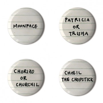 Gift Box: 4 button badges (Names)