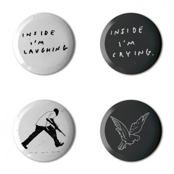 Gift Box: 4 button badges (Insider)